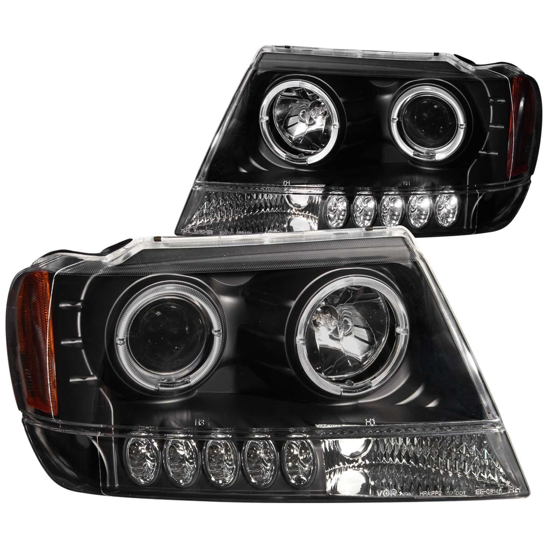 Anzo-USA-111043-Projector-Headlight-Set-w-Halo-Fits-99-04-Grand-Cherokee-WJ