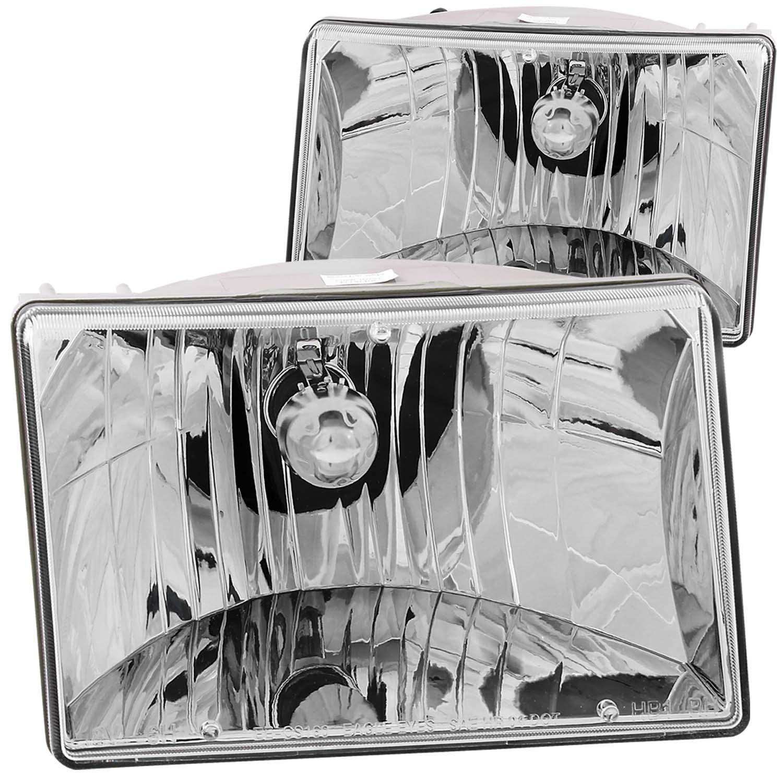 Anzo USA 111066 Crystal Headlight Set Fits 93-98 Grand Cherokee (ZJ)