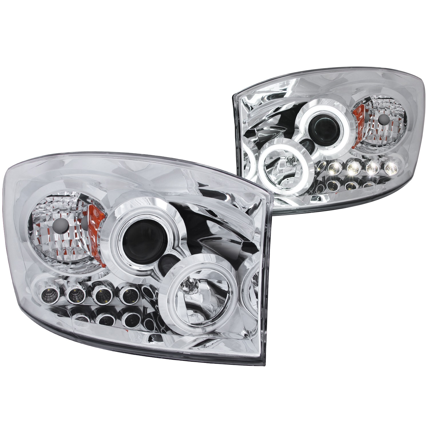 Anzo USA 111103 Projector Headlight Set w/Halo Fits Ram 1500 Ram 2500 Ram 3500