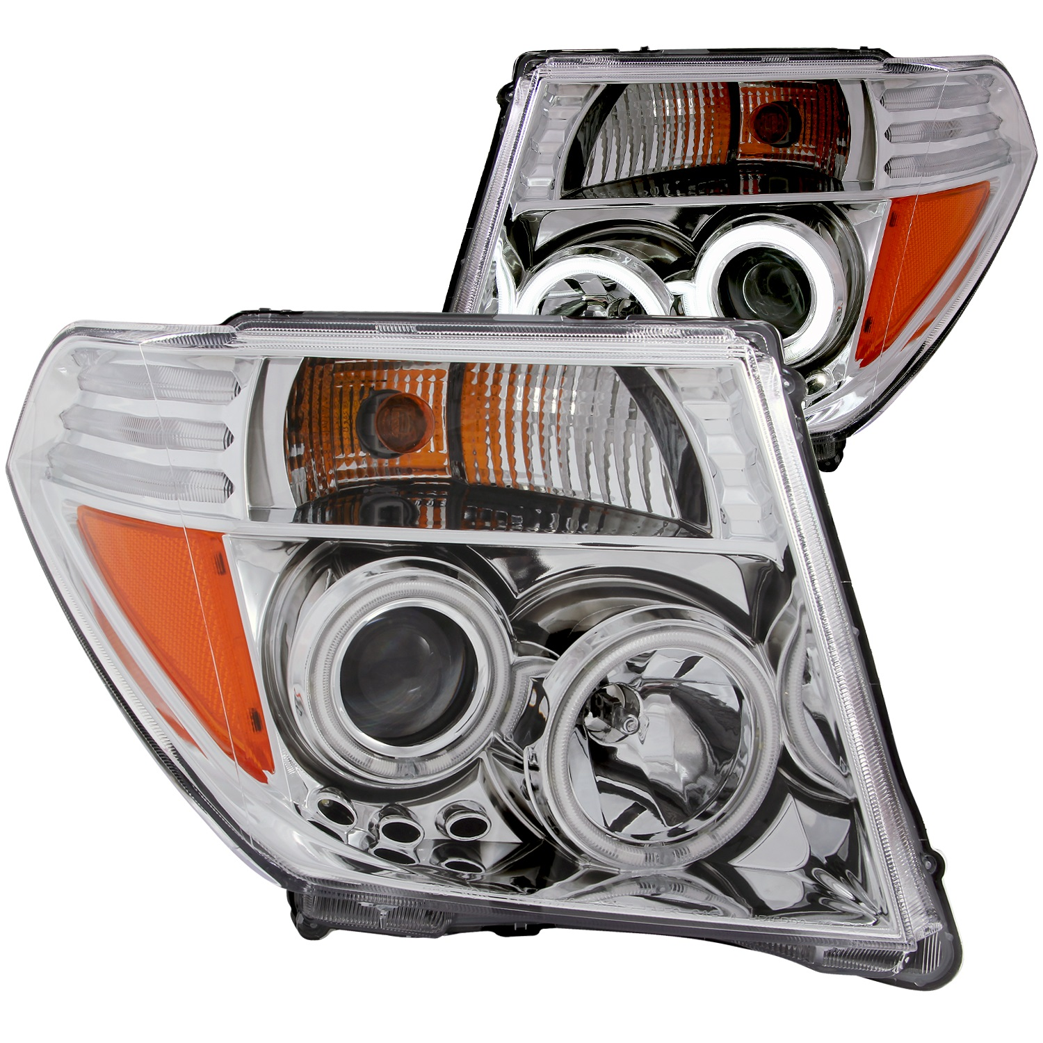 Anzo USA 111112 Projector Headlight Set w/Halo Fits 05-08 Frontier Pathfinder