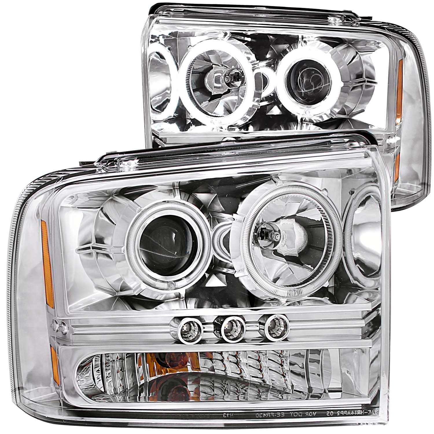 Anzo USA 111118 Projector Headlight Set w/Halo