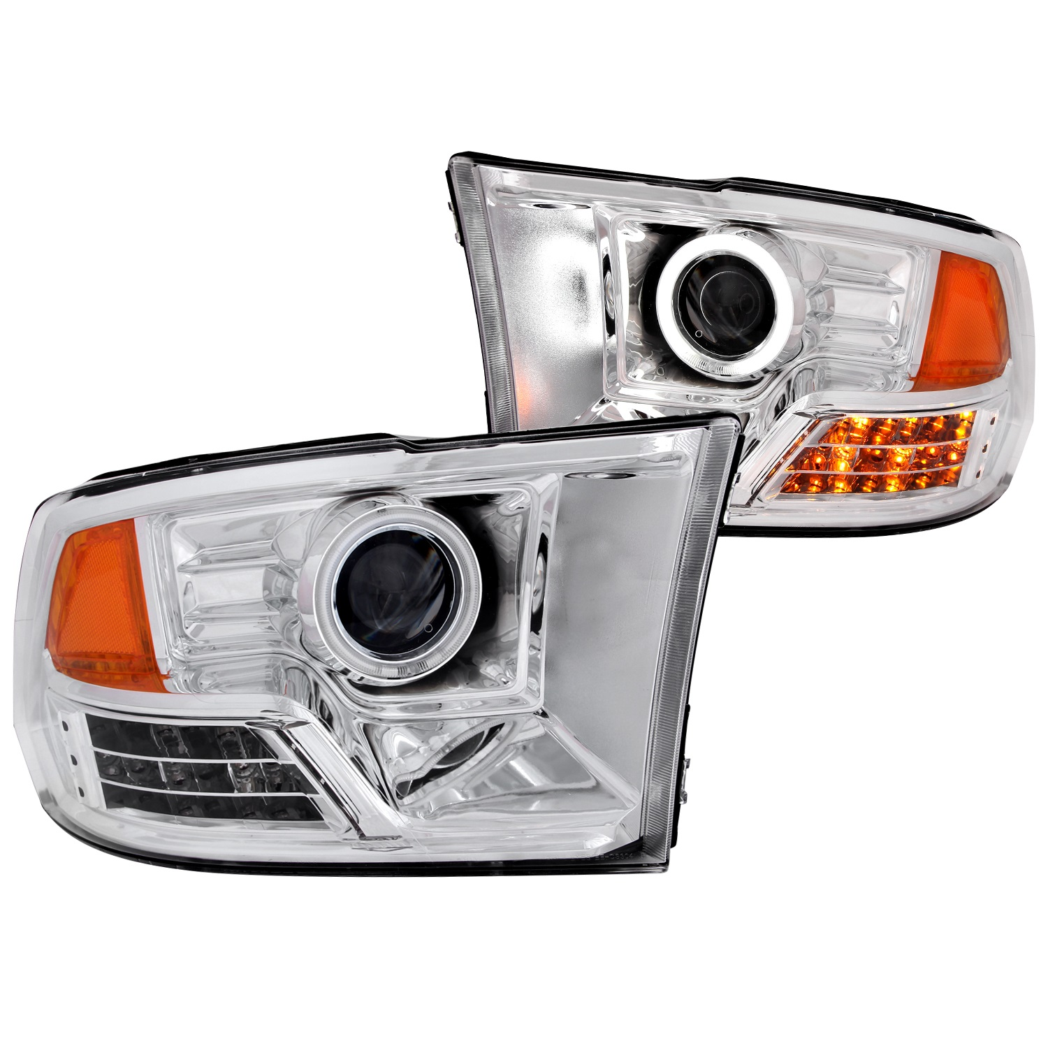 Anzo USA 111160 Projector Headlight Set w/Halo