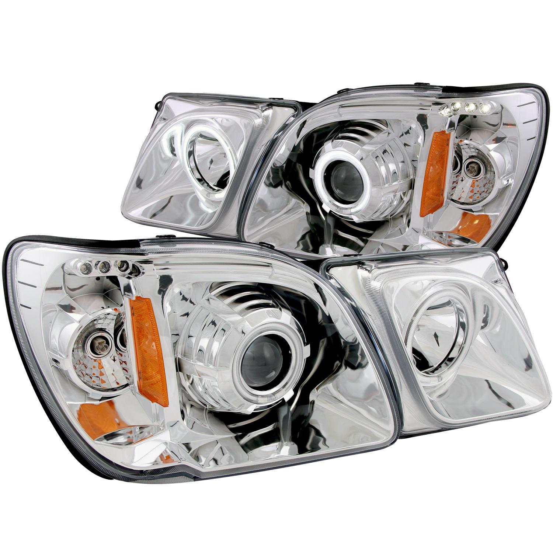 Anzo USA 111169 Projector Headlight Set w/Halo Fits 98-07 LX470