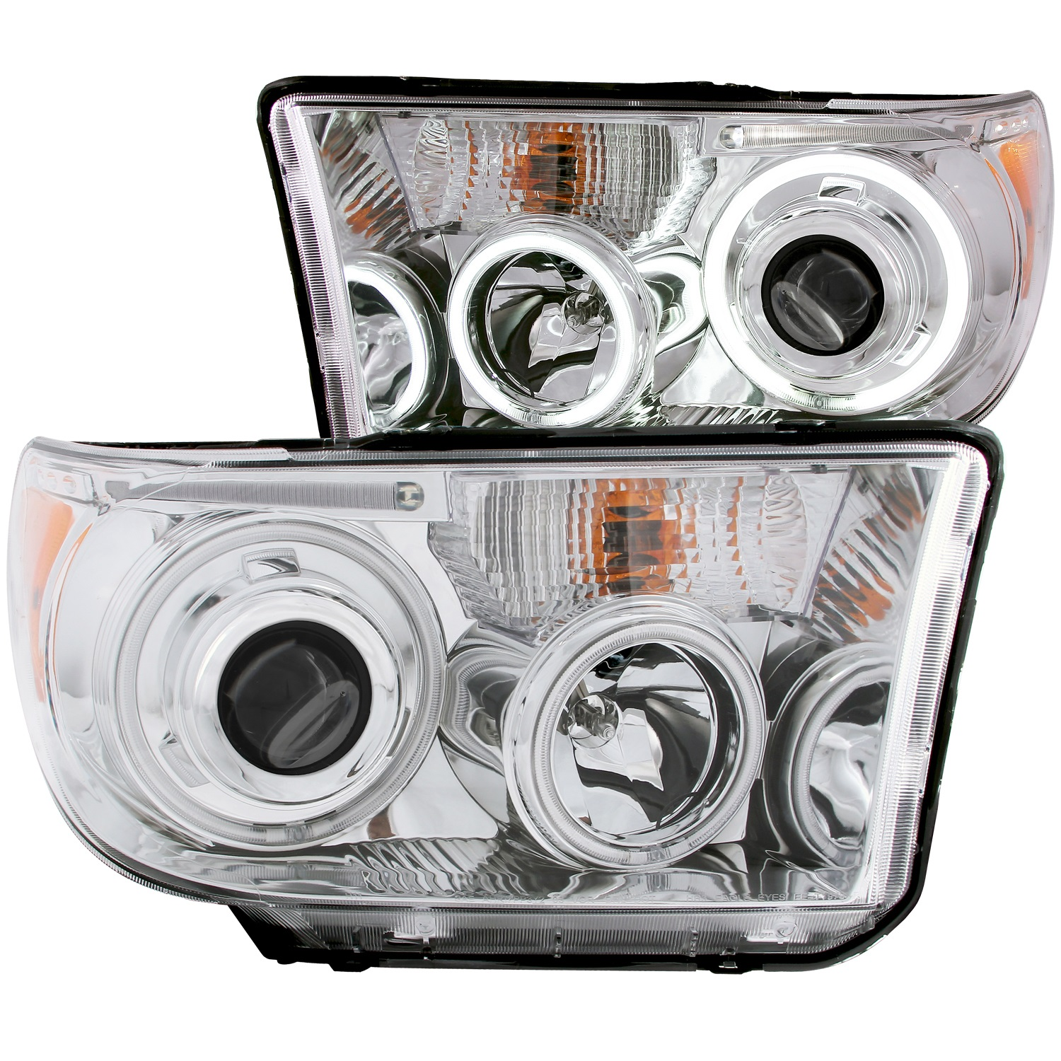 Anzo USA 111173 Projector Headlight Set w/Halo Fits 07-15 Sequoia Tundra