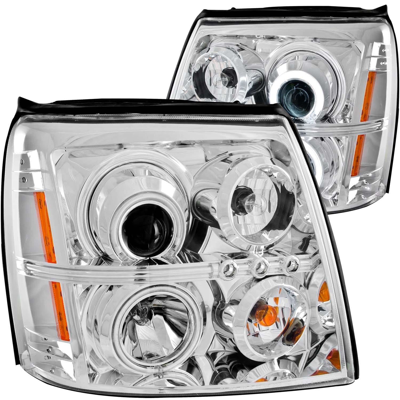 Anzo USA 111176 Projector Headlight Set w/Halo Fits 02-06 Escalade Escalade ESV