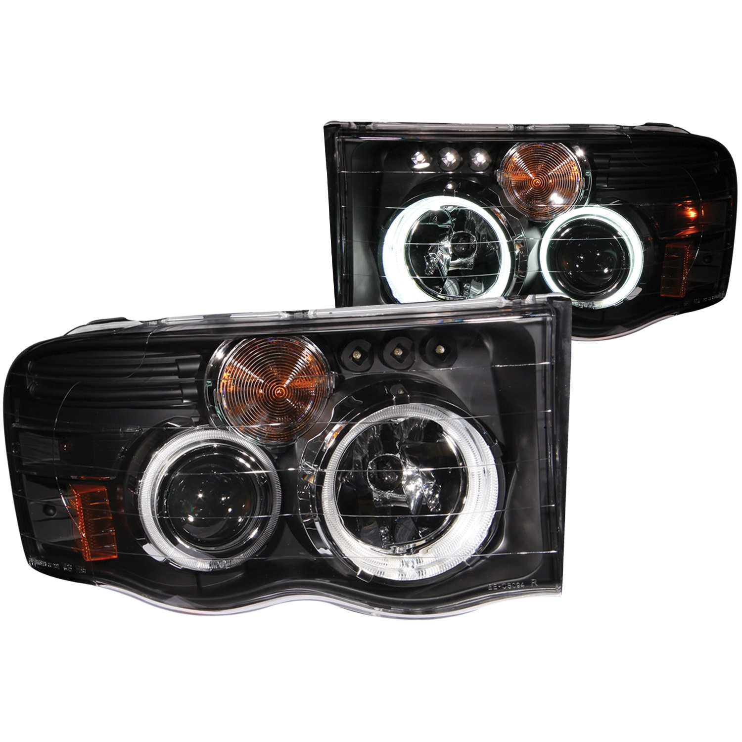 Anzo USA 111198 Projector Headlight Set w/Halo Fits Ram 1500 Ram 2500 Ram 3500