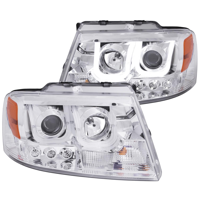 Anzo USA 111287 Projector Headlight Set Fits 04-08 F-150 Mark LT