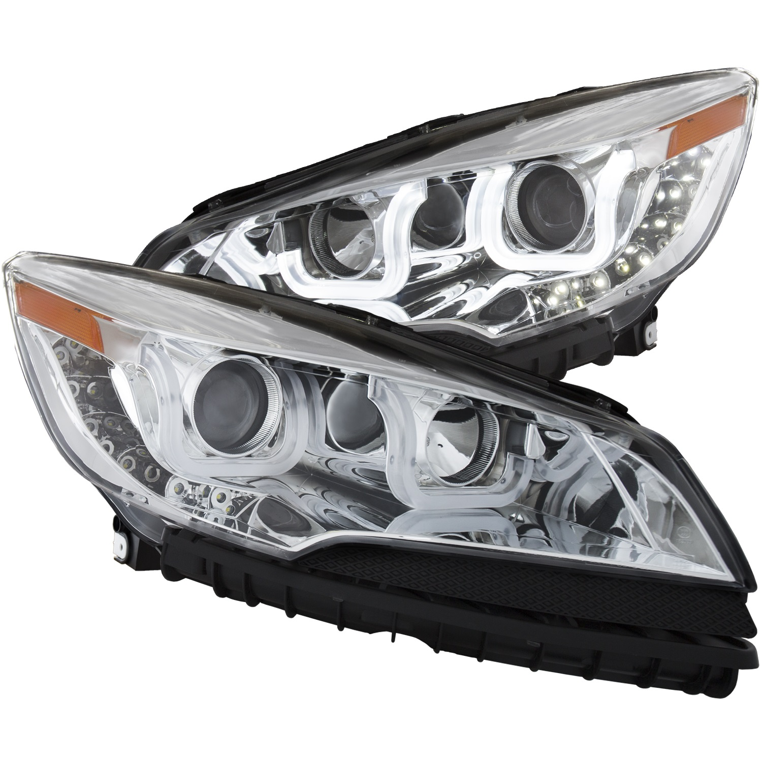 Anzo USA 111325 Projector Headlight Set Fits 13-16 Escape