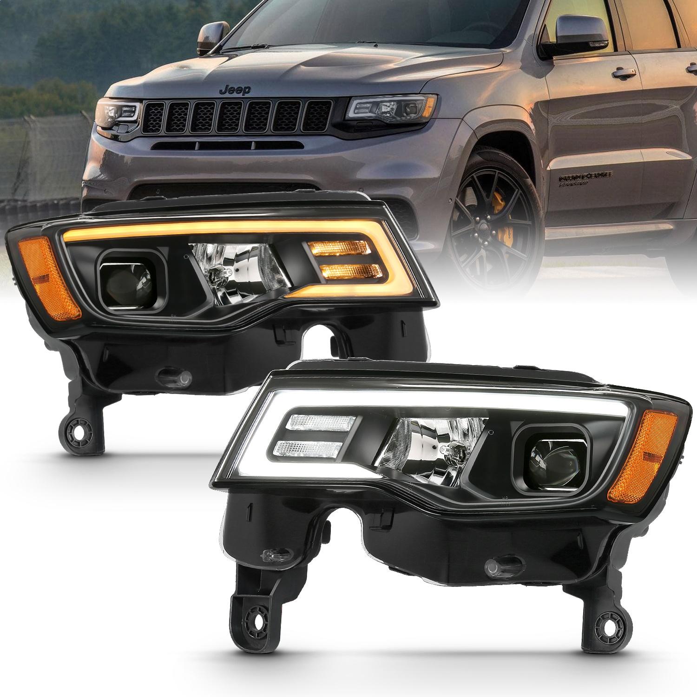 Anzo USA 111418 Projector Headlight Set Fits 17-18 Grand Cherokee