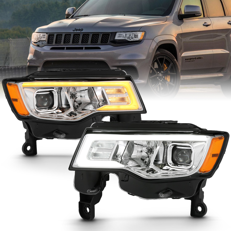 Anzo USA 111419 Projector Headlight Set Fits 17-18 Grand Cherokee