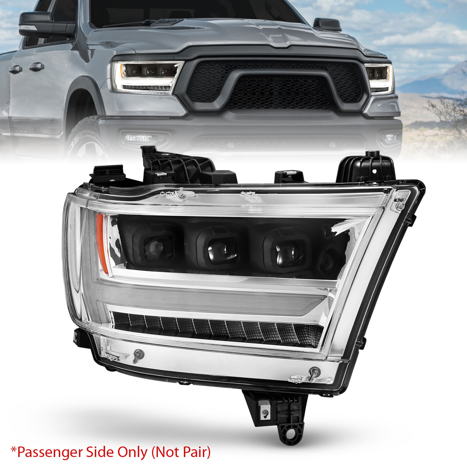 Anzo USA 111495-R LED Projector Headlight Fits 19-20 1500