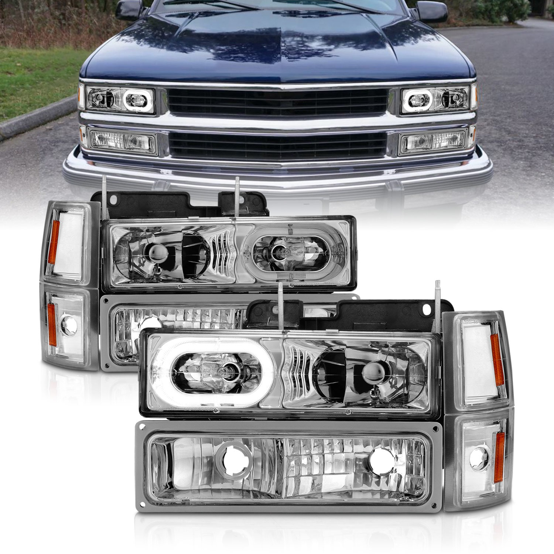 Anzo USA 111508 Crystal Headlight Set w/Halo