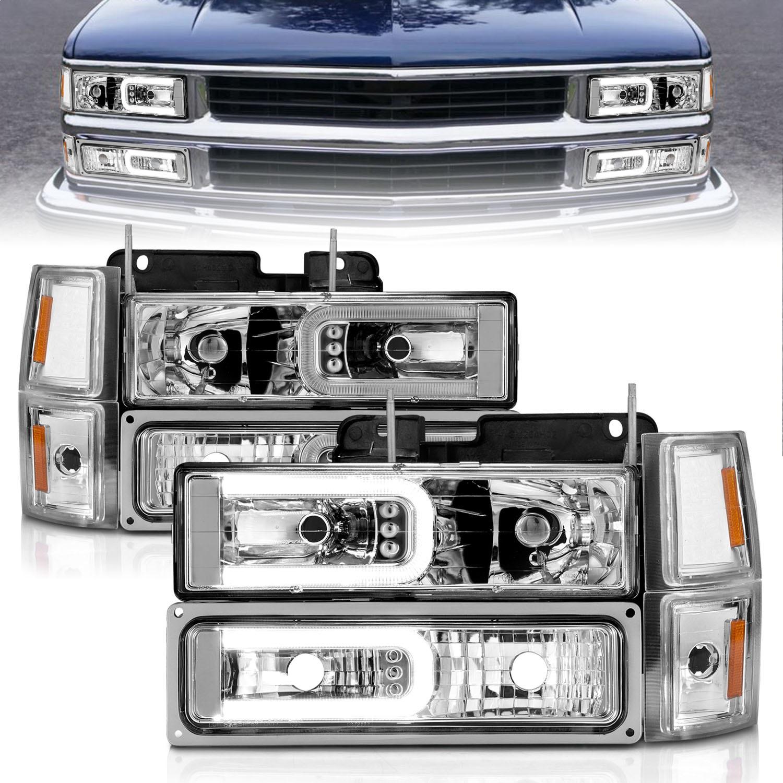 Anzo USA 111529 Crystal Headlight Set