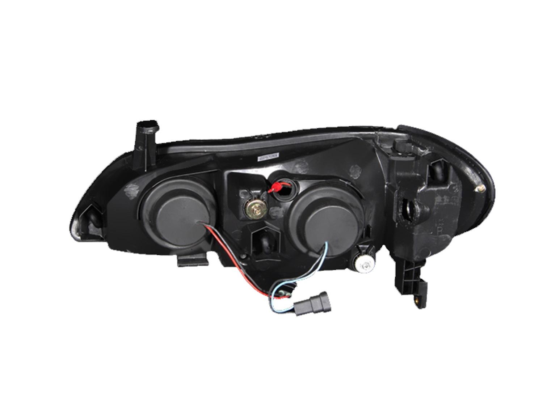 Anzo USA 121078 Projector Headlight Set w//Halo Fits 00-04 I30 I35