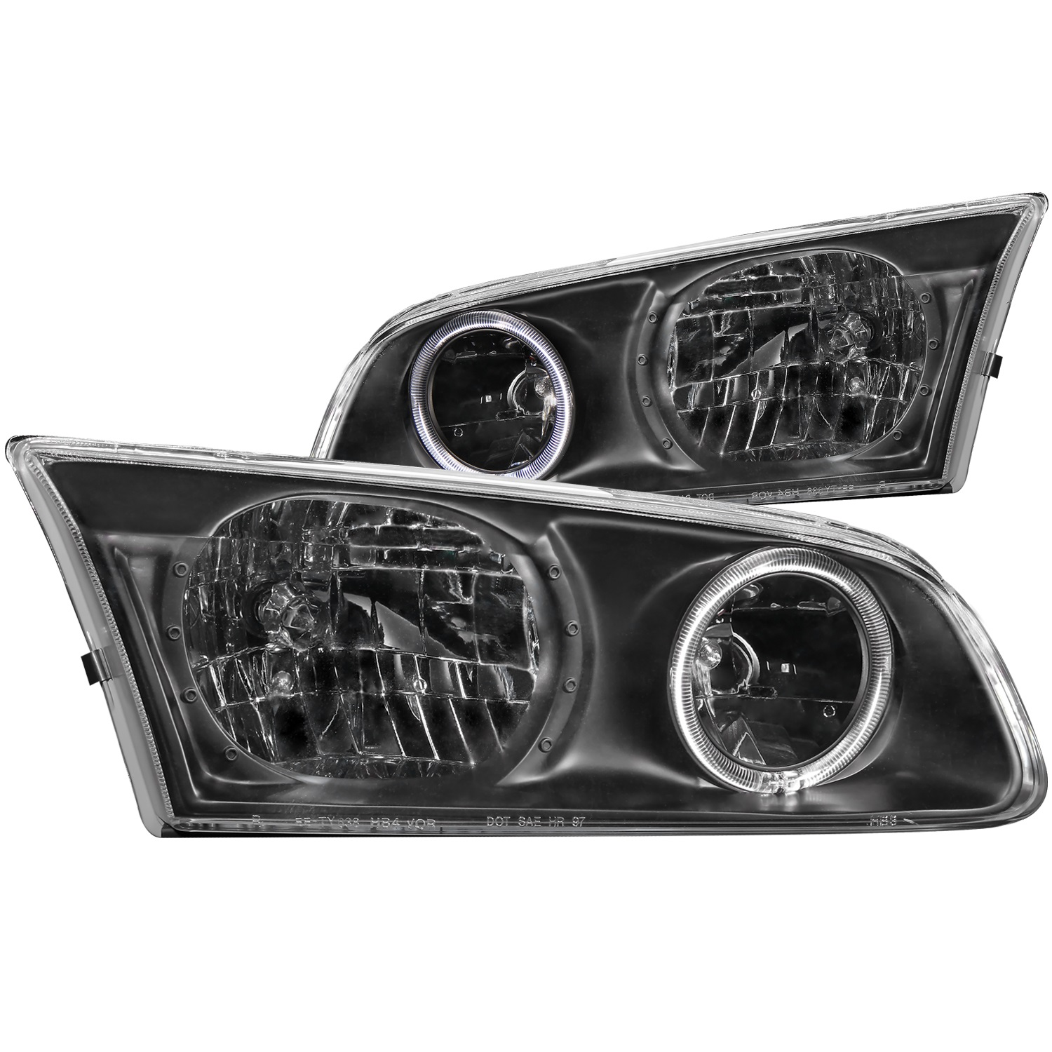 Anzo USA 121123 Crystal Headlight Set w/Halo Fits 00-01 Camry