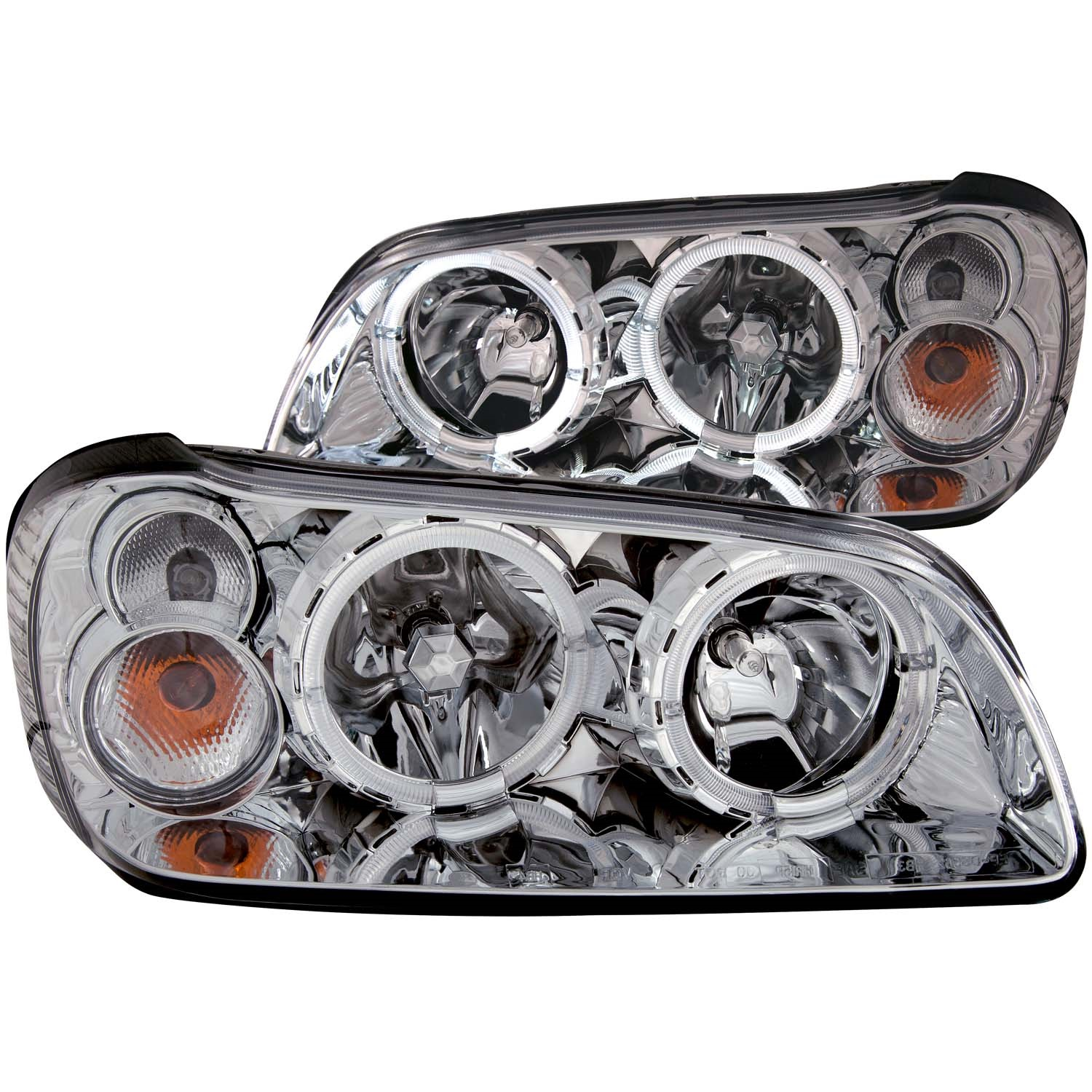Anzo USA 121202 Crystal Headlight Set w/Halo Fits 02-03 Maxima