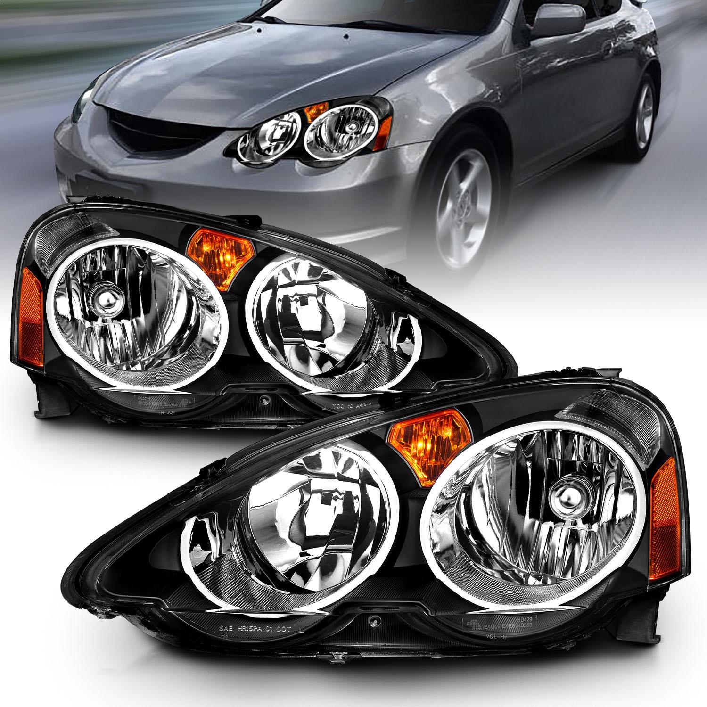 Anzo USA 121209 Crystal Headlight Set Fits 02-04 RSX