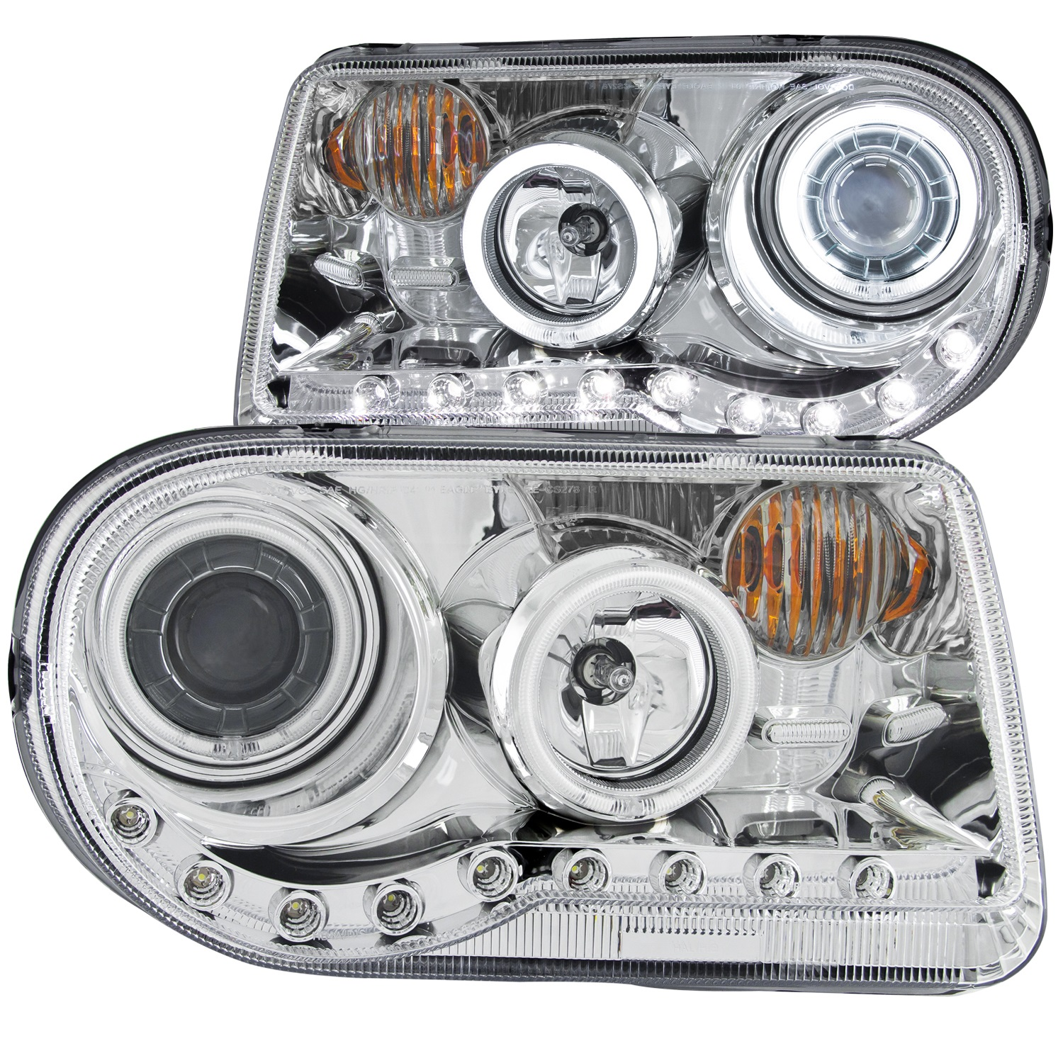 Anzo USA 121250 Projector Headlight Set w/Halo Fits 05-10 300