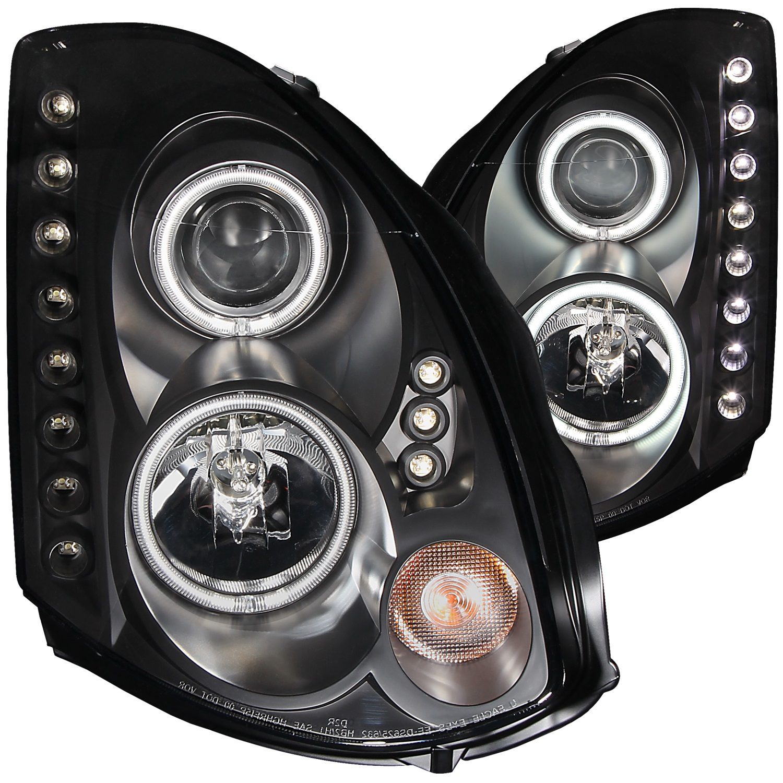 Anzo USA 121363 Projector Headlight Set w/Halo Fits 03-05 G35