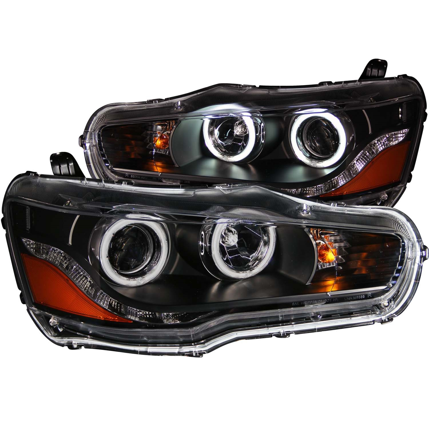 Anzo USA 121428 Projector Headlight Set w/Halo Fits 08-15 Lancer