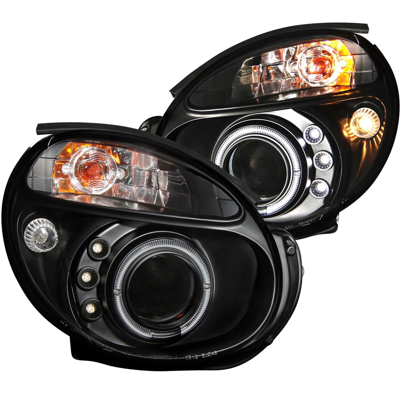 Anzo USA 121436 Projector Headlight Set w/Halo Fits 02-03 Impreza