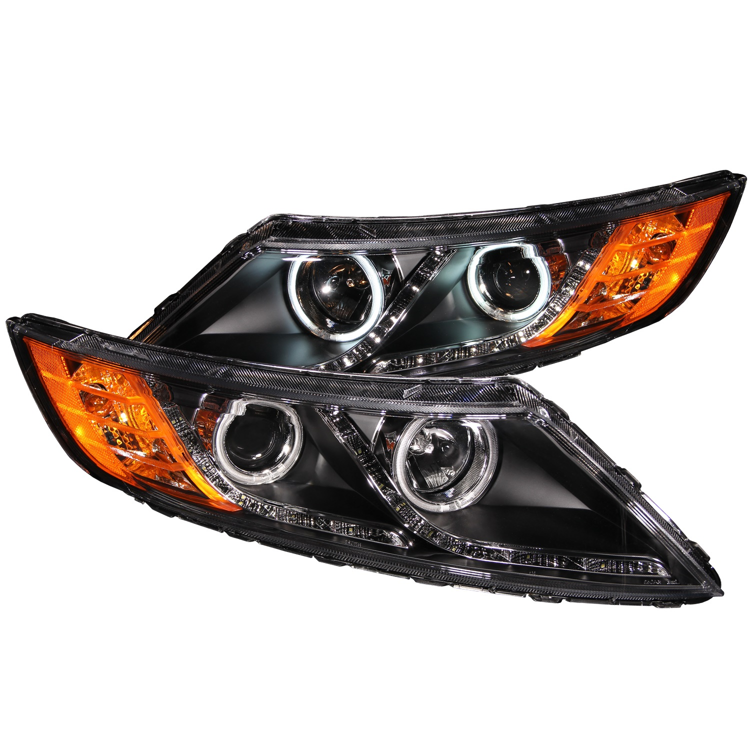 Anzo USA 121460 Projector Headlight Set w/Halo Fits 11-13 Optima