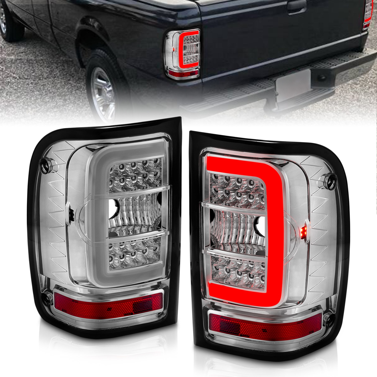 Anzo USA 311392 Tail Light Assembly Fits 01-11 Ranger