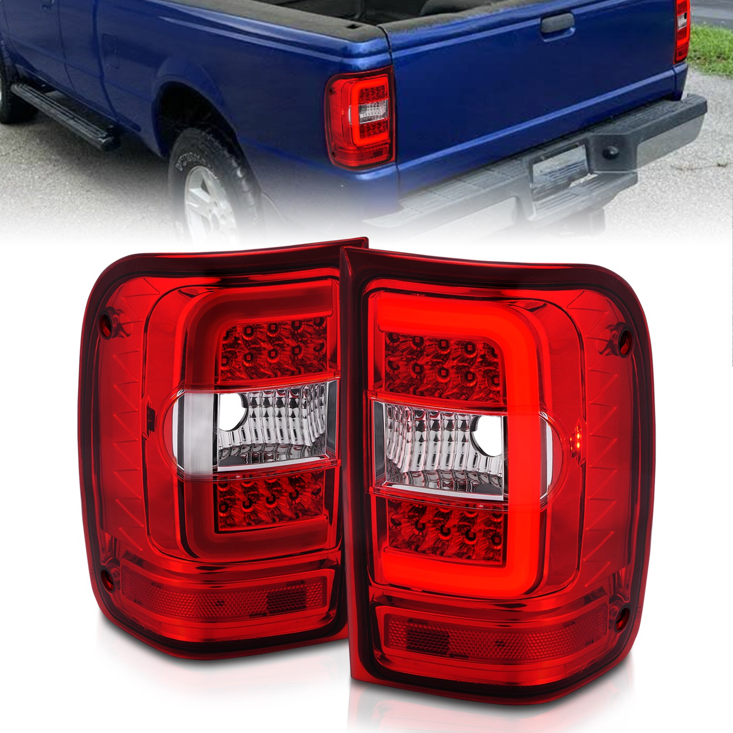 Anzo USA 311393 Tail Light Assembly Fits 01-11 Ranger
