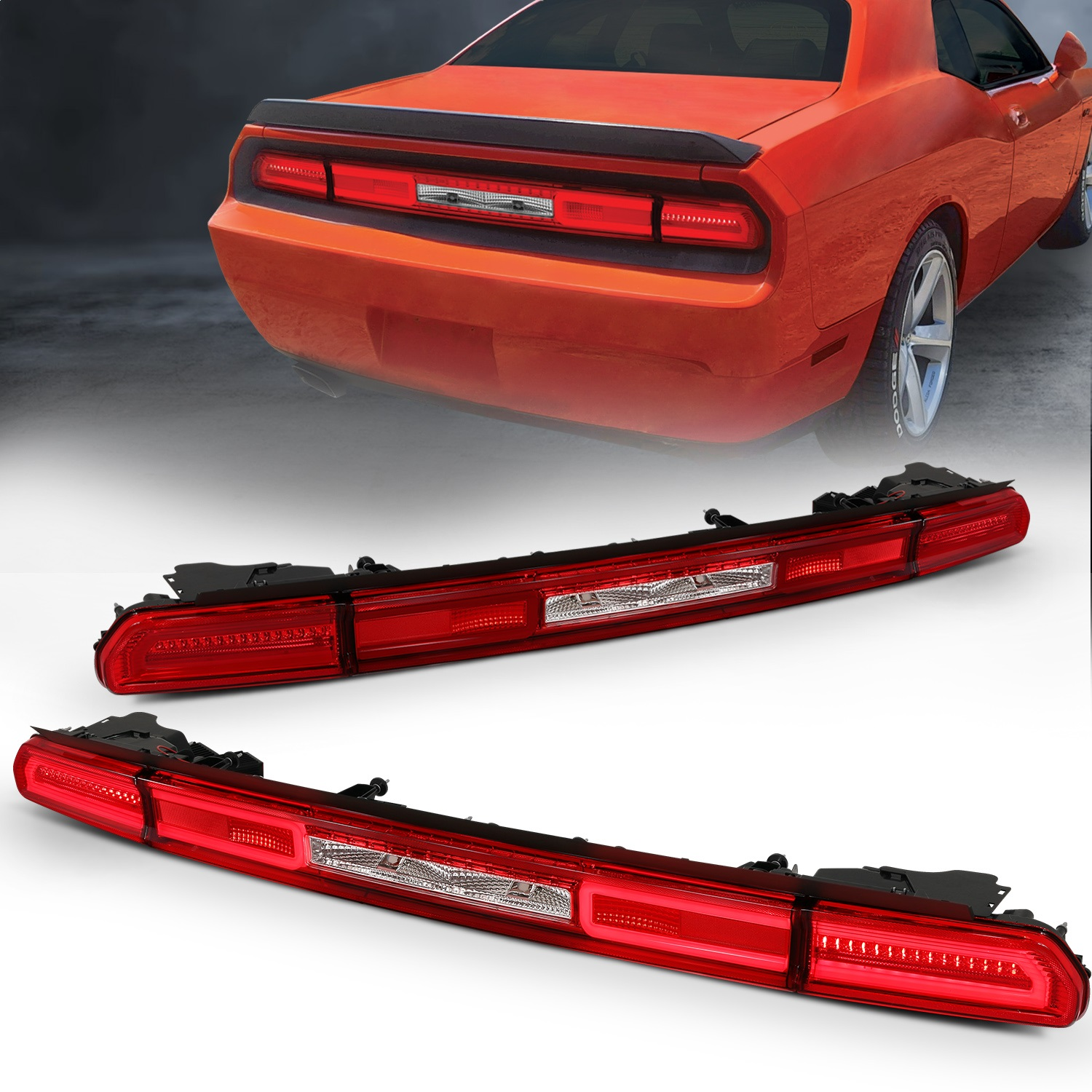 Anzo USA 321348 Tail Light Assembly Fits 08-10 Challenger