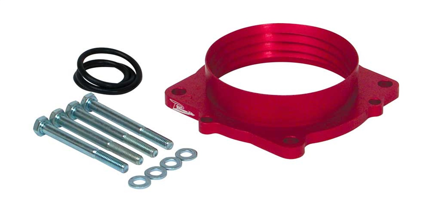 Anodized Red Aluminum Airaid 350-532 Throttle Body Spacer Direct Fit