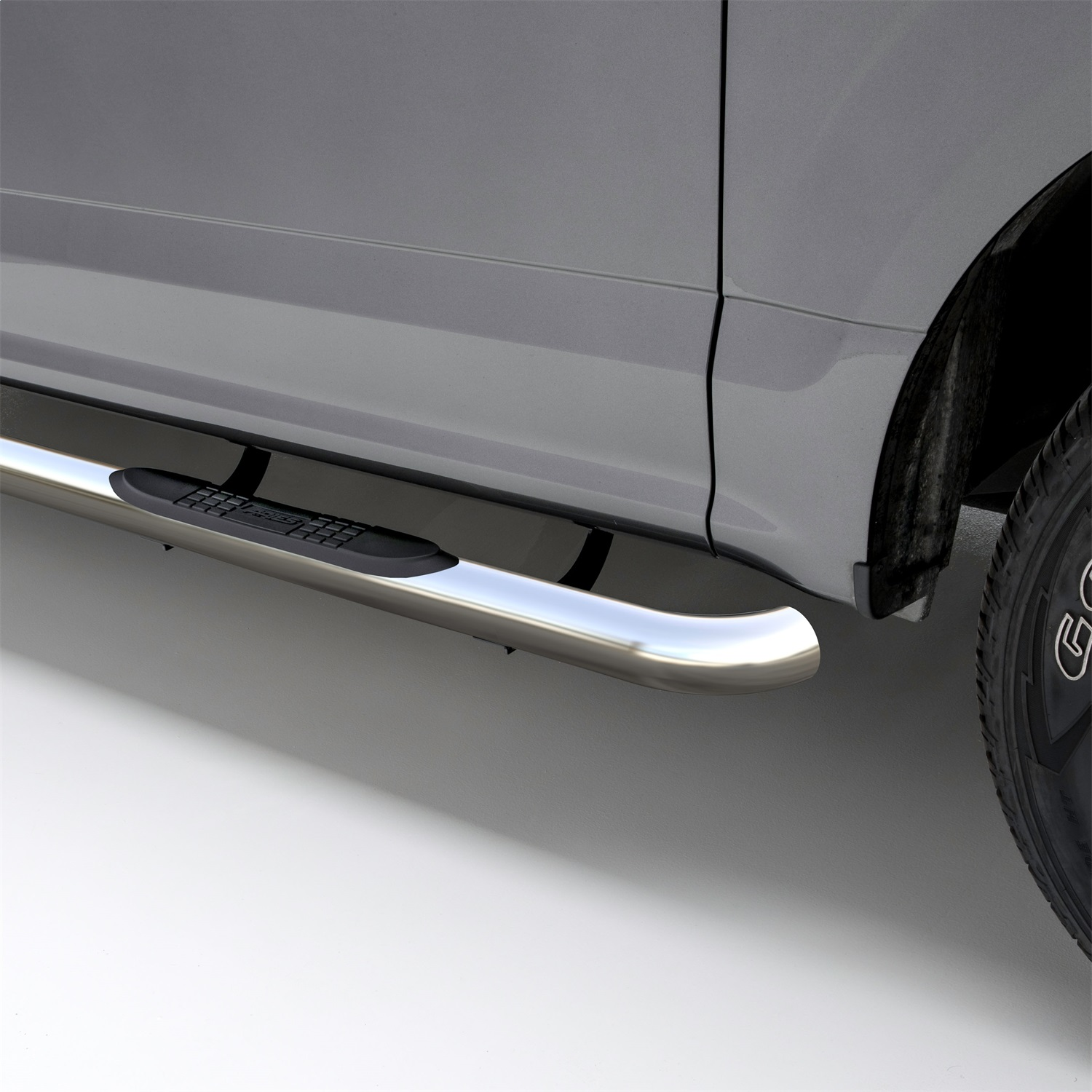 Aries 3 in. Round Side Bars, Incl. Side Bars And Mounting Hardware, Polished Stainless Steel