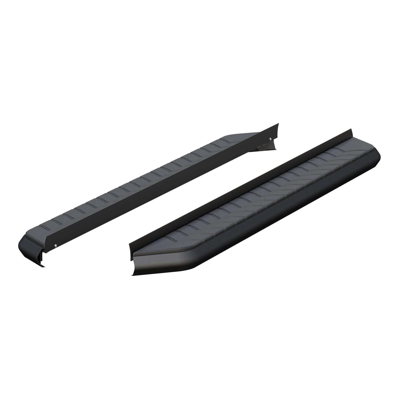 AeroTread Running Boards, 5 in., Carbide Black Powder Coat Aluminum, Mounting Brackets Sold Separately