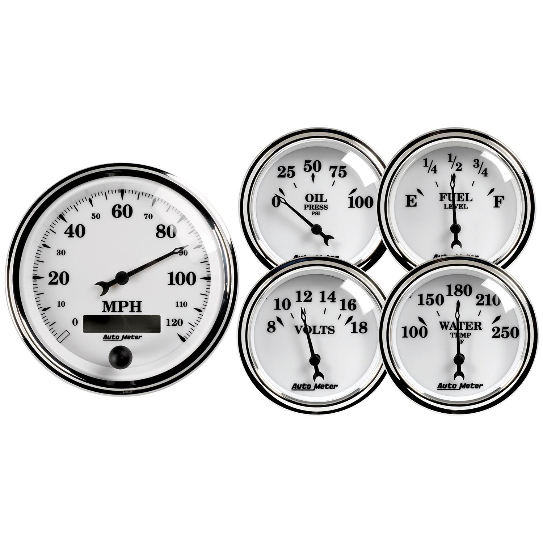 AutoMeter 1200 Old Tyme White II Street Rod Kit