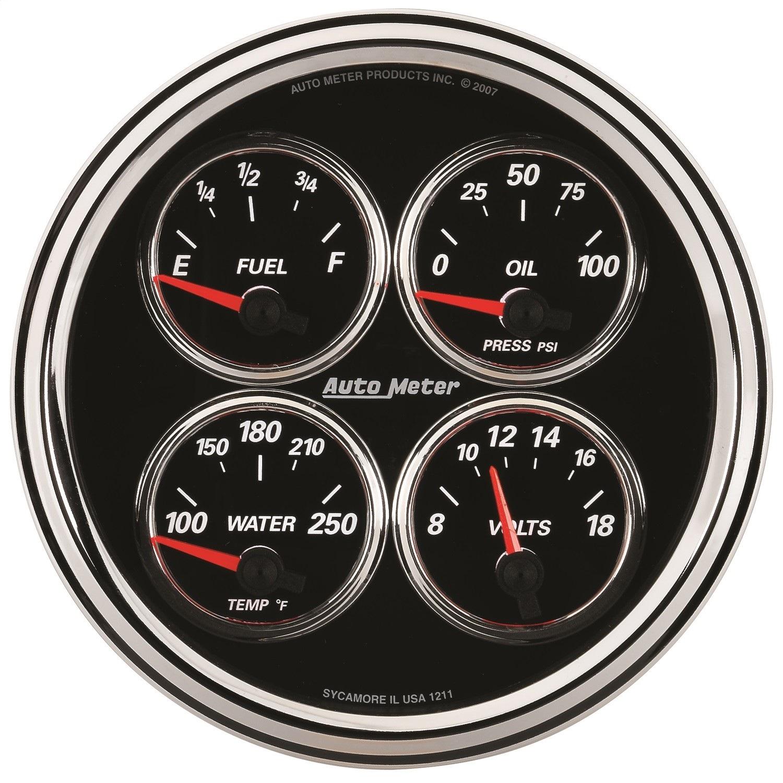 AutoMeter 1224 Designer Black II Quad Gauge