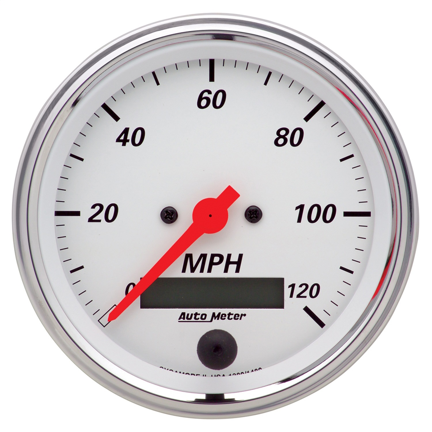 AutoMeter 1380 Arctic White Electric Programmable Speedometer