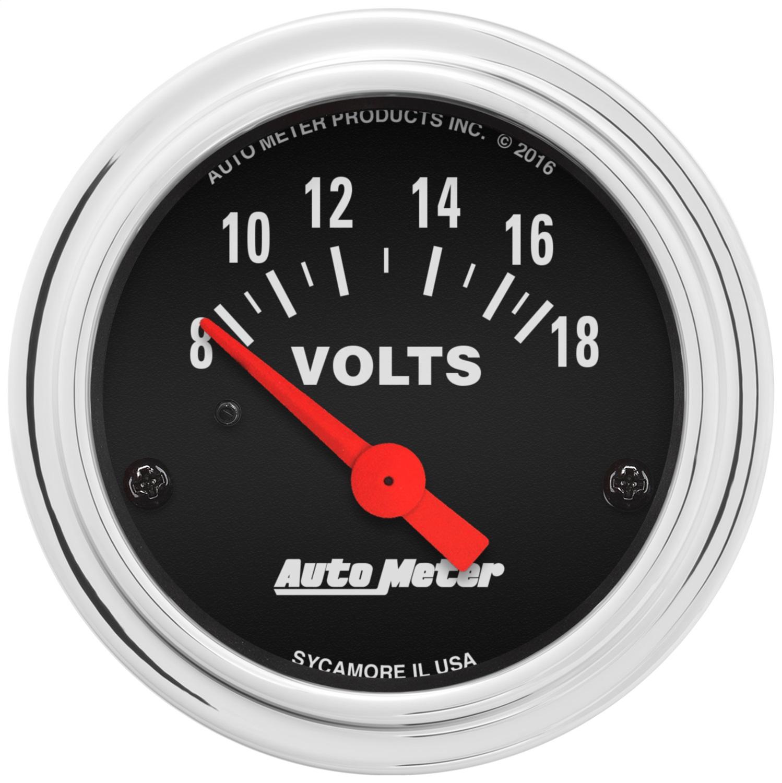AutoMeter 2592 Traditional Chrome Electric Voltmeter Gauge | eBay