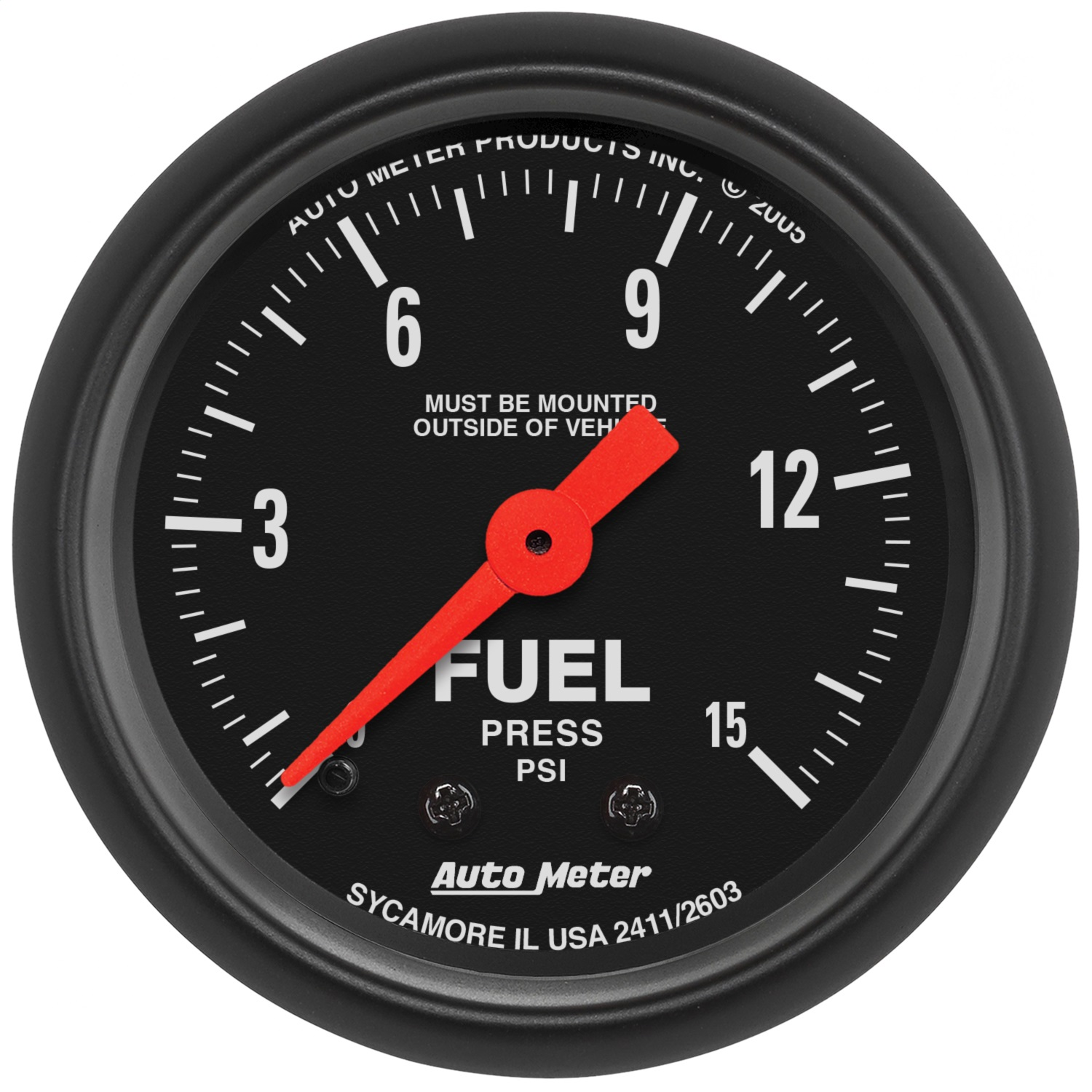 Auto Meter 2603 Z Series Mechanical Fuel Pressure Gauge