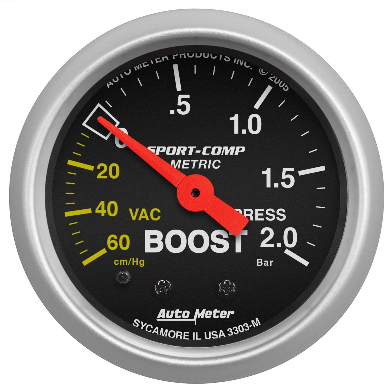 Auto Meter 5903-M ES Mechanical Boost//Vacuum Gauge