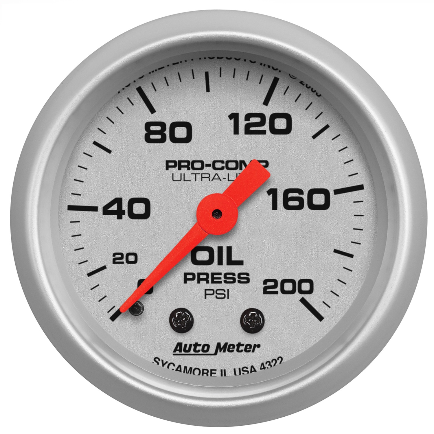 Auto Meter 4322 Ultra Lite Mechanical Oil Pressure Gauge