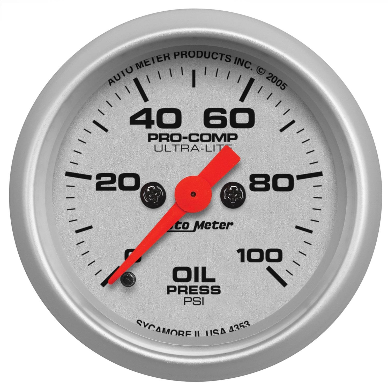 Auto Meter 4353 Ultra Lite Electric Oil Pressure Gauge