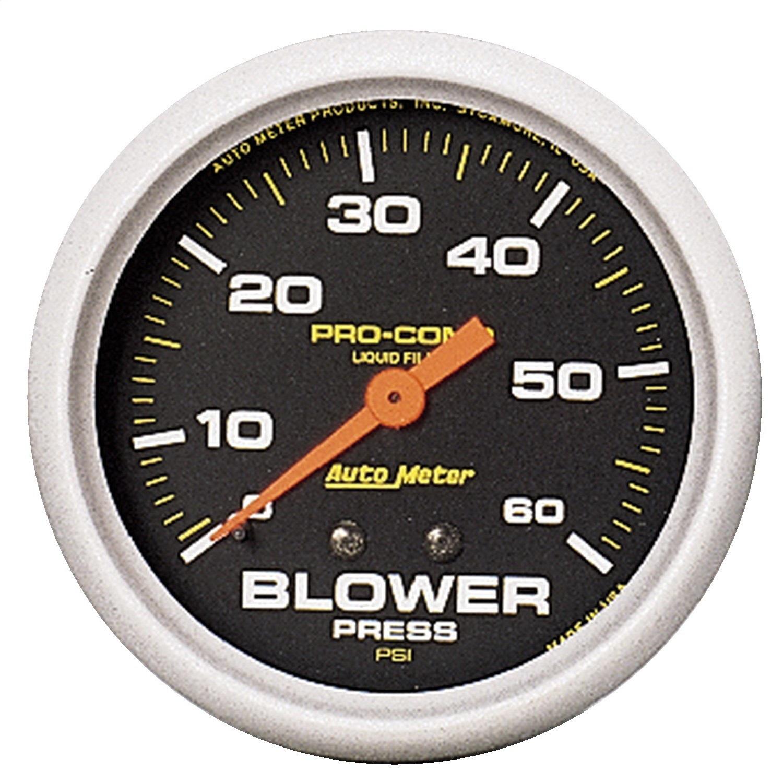 Auto Meter 5402 Pro Comp Liquid Filled Mechanical Blower Pressure Gauge