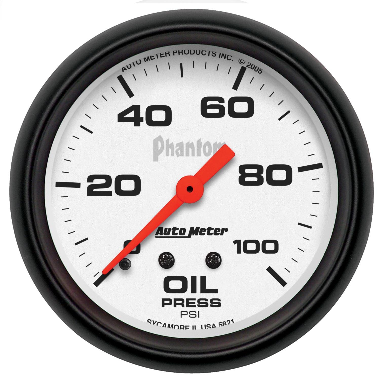 Auto Meter 5821 Phantom Mechanical Oil Pressure Gauge