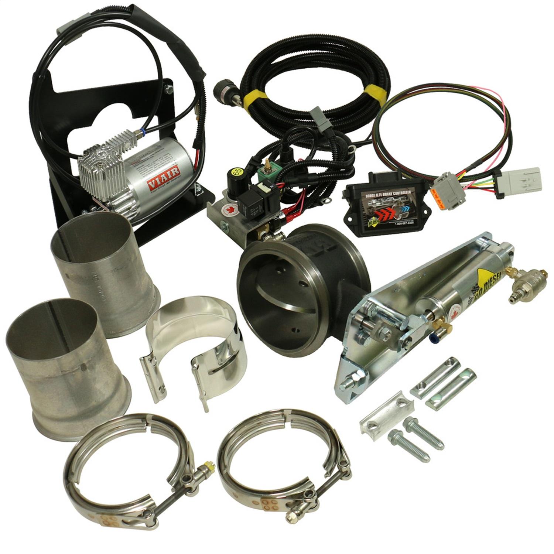 BD Diesel Performance 1027342 EXHAUST BRAKE Remote Air 4.0in-Dodge 6.7L 2007.5-2012 w/Non-VGT Turbo