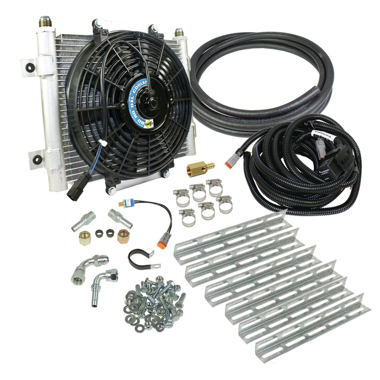 BD Diesel 1030606-5/8 Xtruded Auxiliary Transmission Oil Cooler Kit