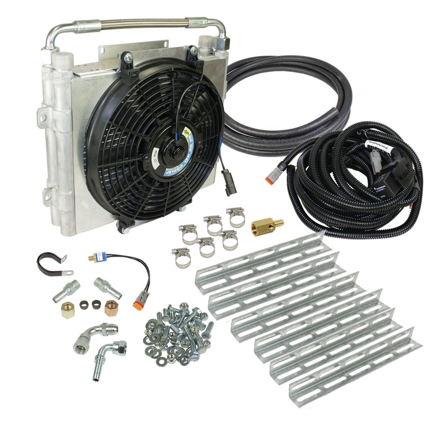 BD Diesel 1030606-DS-58 Xtrude Double Stacked Auxiliary Transmission Cooler Kit