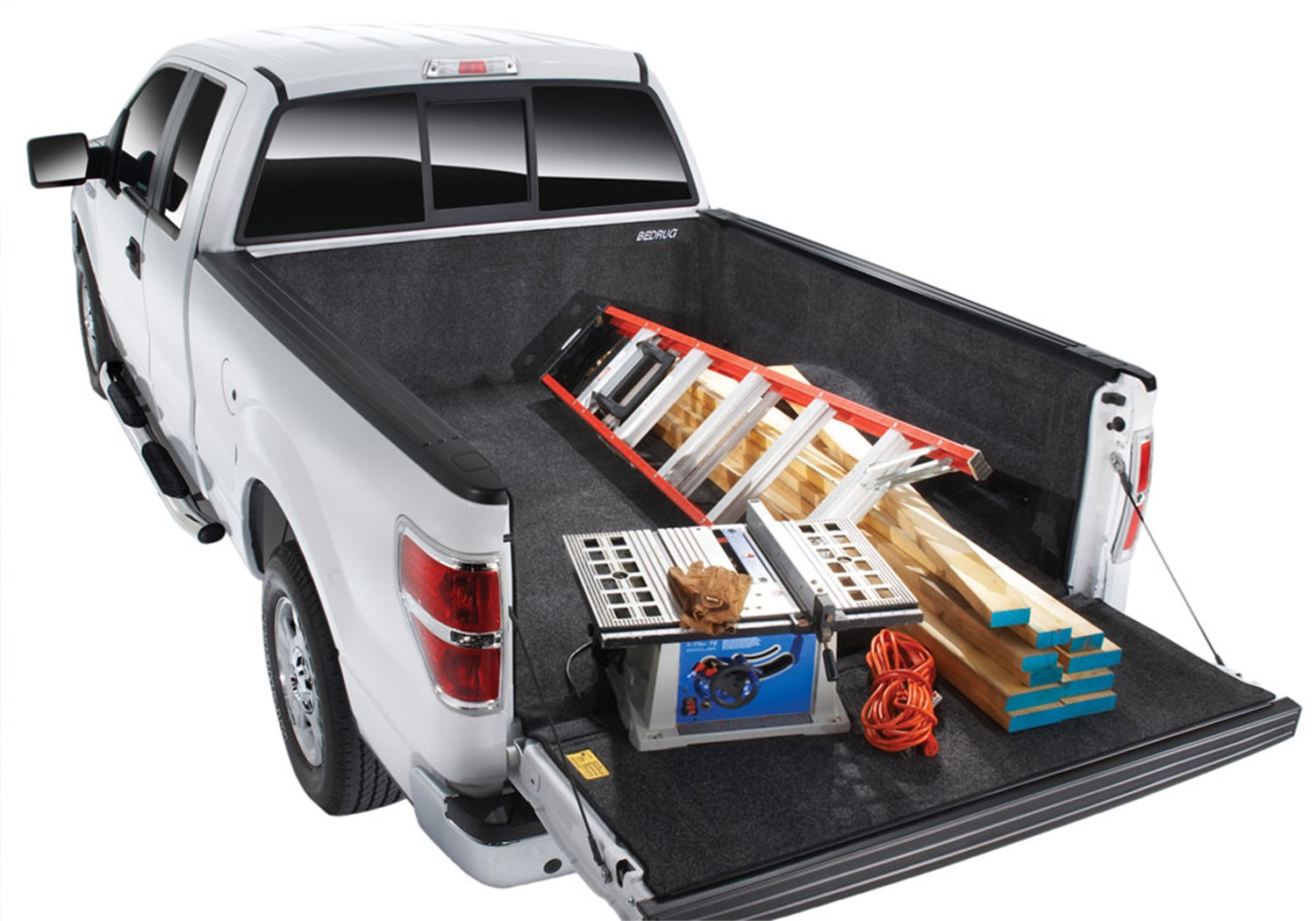 BedRugr Complete Truck Bed Liner, 3/4 in. Thick Floor, 1/4 in. Thick Side Walls, Incl. Bulkhead And Tailgate