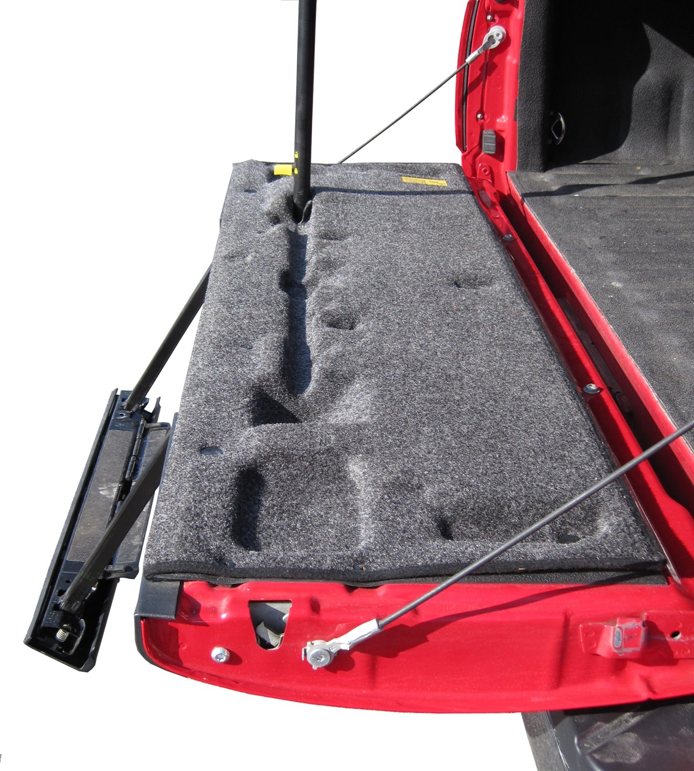 BedRugr Tailgate Mat, 29 in. Length, 9 in. Width, Polypropylene, Charcoal, w/Tailgate Step