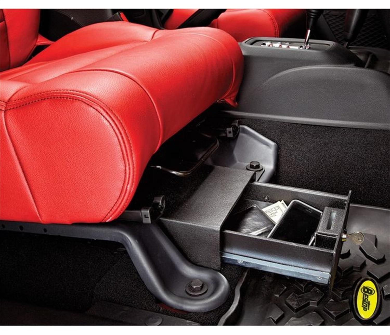 Underseat Locking Storage Box, Black, Passenger Side