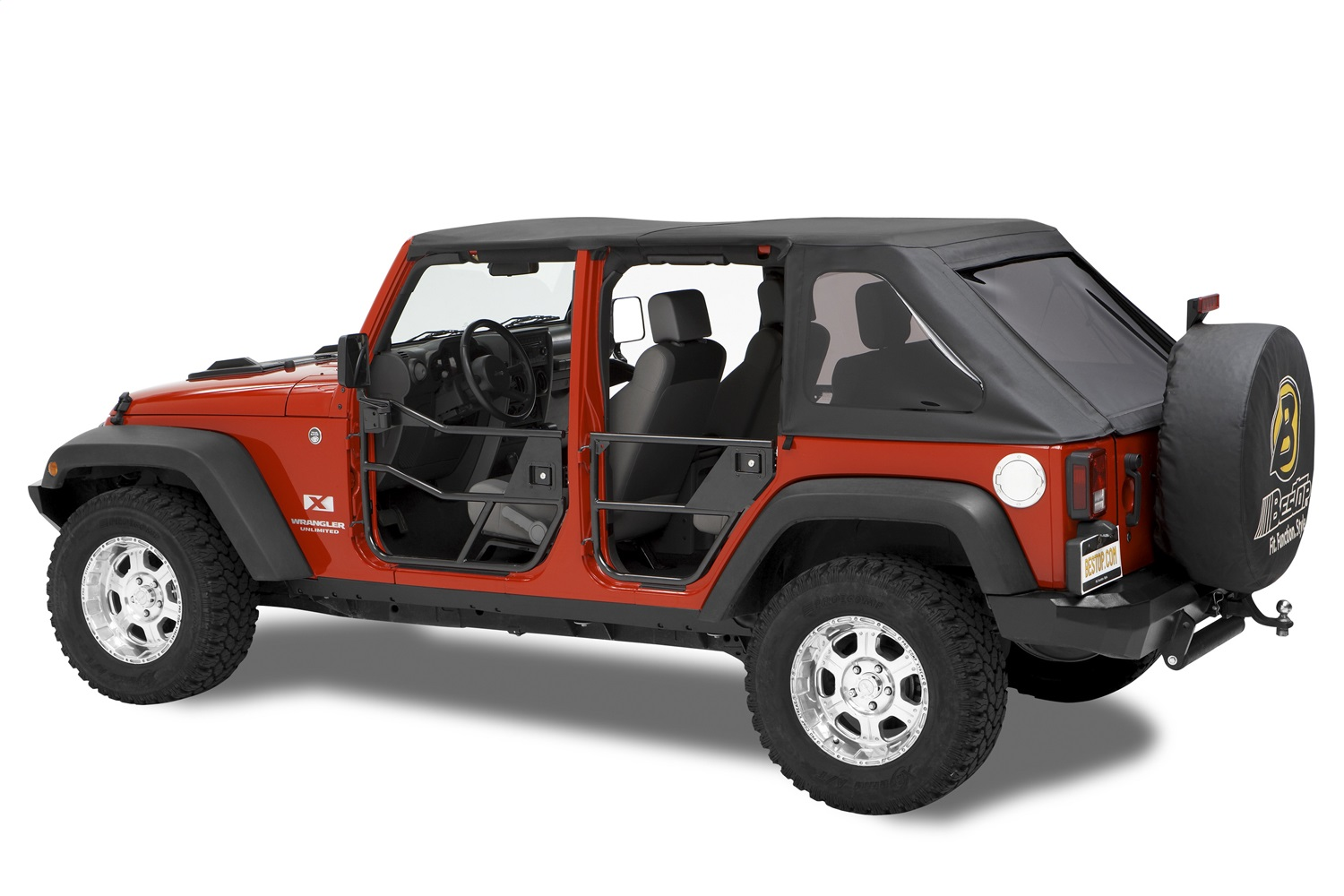 HighRock 4x4T Element Soft Doors, Black, Front, Incl. Two Lower Door Frames, Paddle Handles, w/o Storage Bags