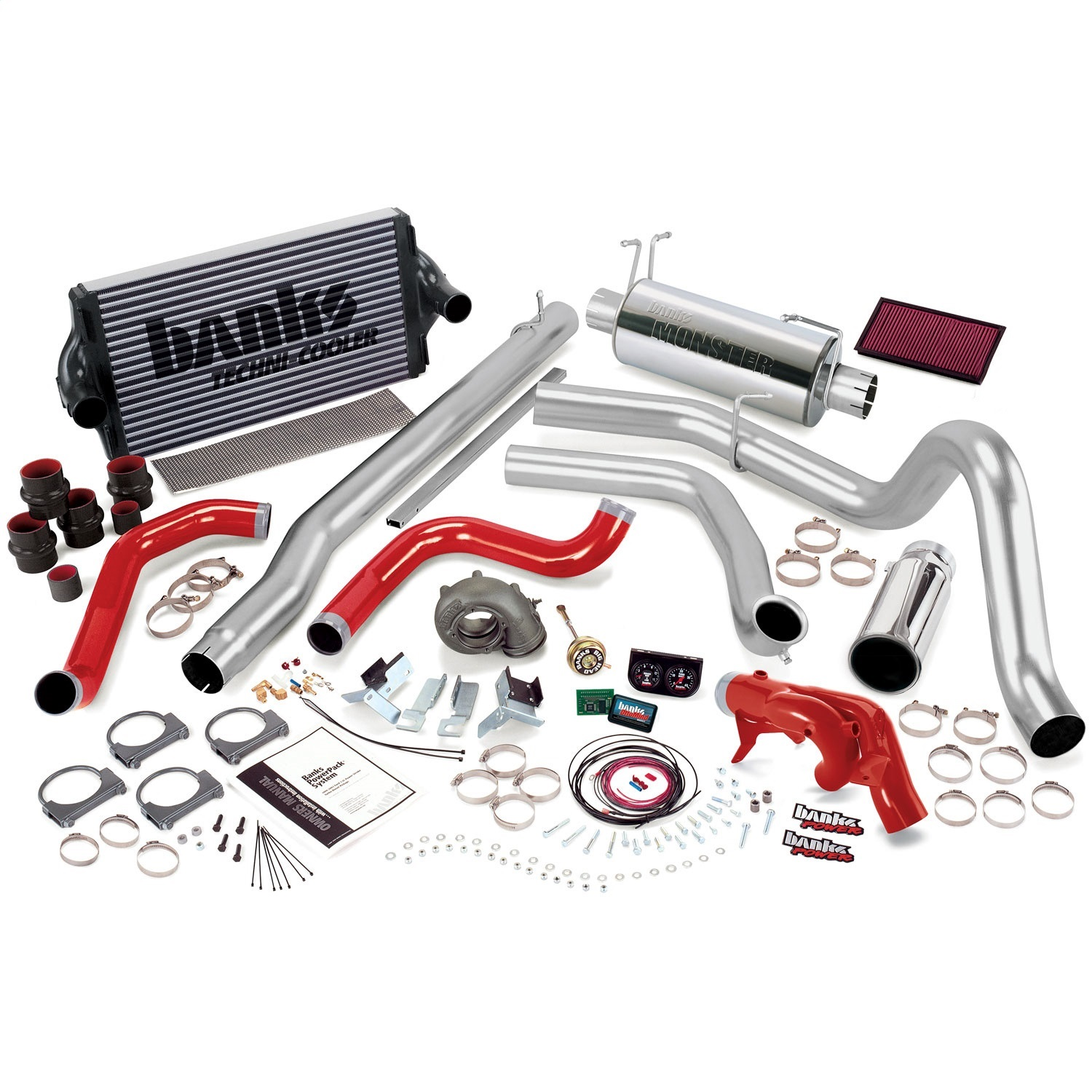 Banks Power 47423 Powerpack System; Single Exh; S/S-Chrome Tip-1999 Ford 7.3L F450/550; Man